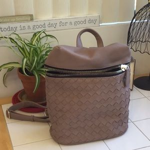 'Madison West' Roomy Woven Design Backpack